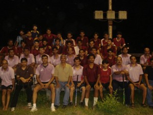 Group photograph after the match